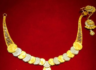 Gold Rhodium Necklace Design