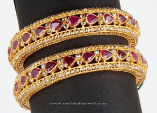 Big Gold Ruby Bangle Designs