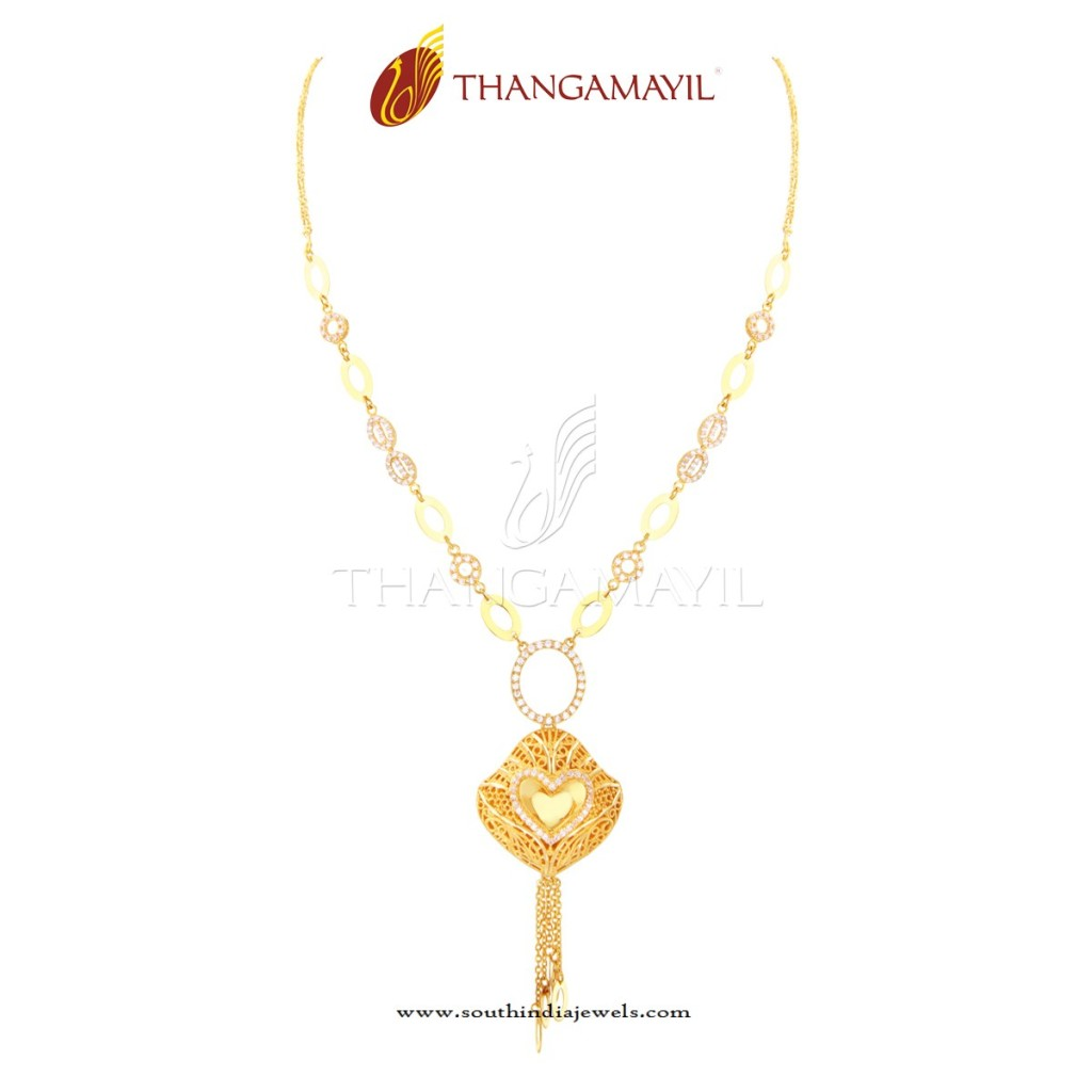 Gold Short Necklace Design 2016