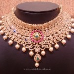 Gold Uncut Diamond Bridal Choker Necklace