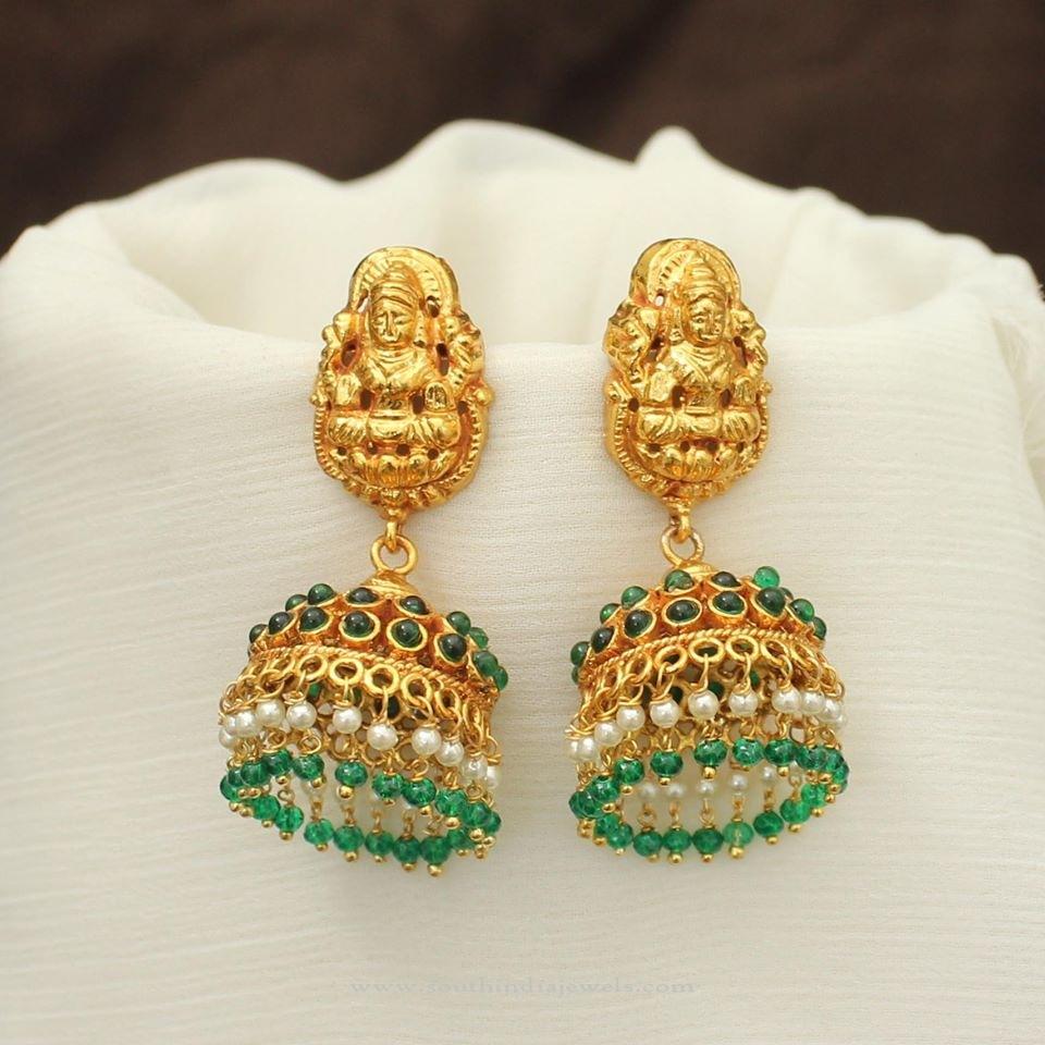 Green Stone Jhumka