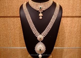 Gold CZ Stone Bridal Jewellery Set
