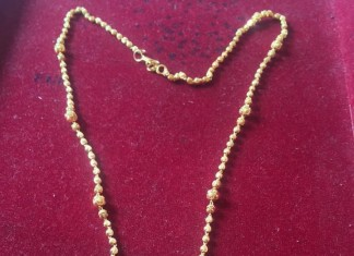 Light Weight Gold Chain and Pendant Set