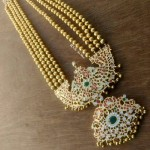Long Stone Haaram with Layered Beaded Chain