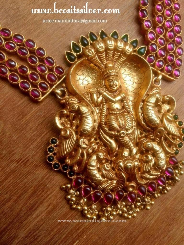 Gold Plated Nagas Krishna Pendant