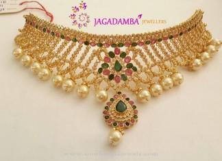 New Gold Choker Model from Jagadamba Jewellers