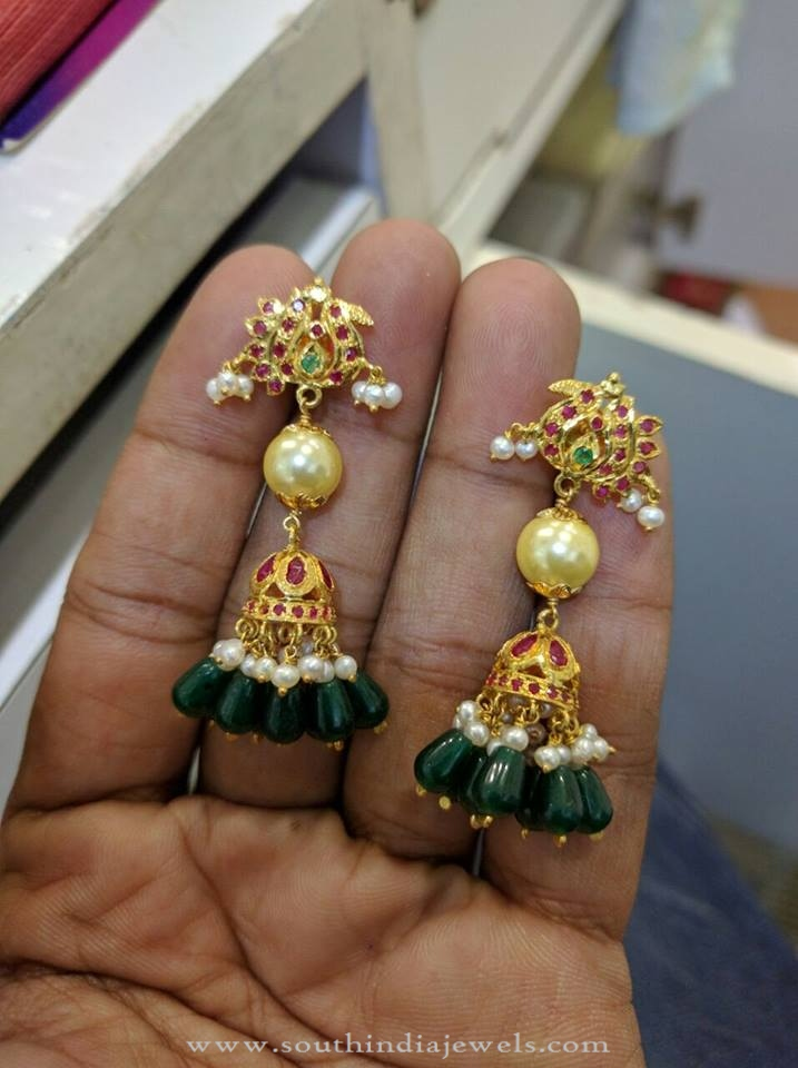 New Ruby Emerald Jhumka Model