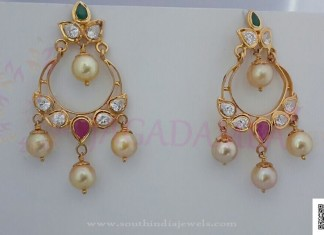 Simple Gold Pearl Drop Earrings