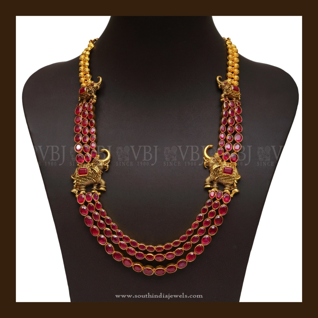 Antique Long Necklace Designs ~ South India Jewels