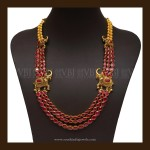 South Indian Style Antique Ruby Necklace