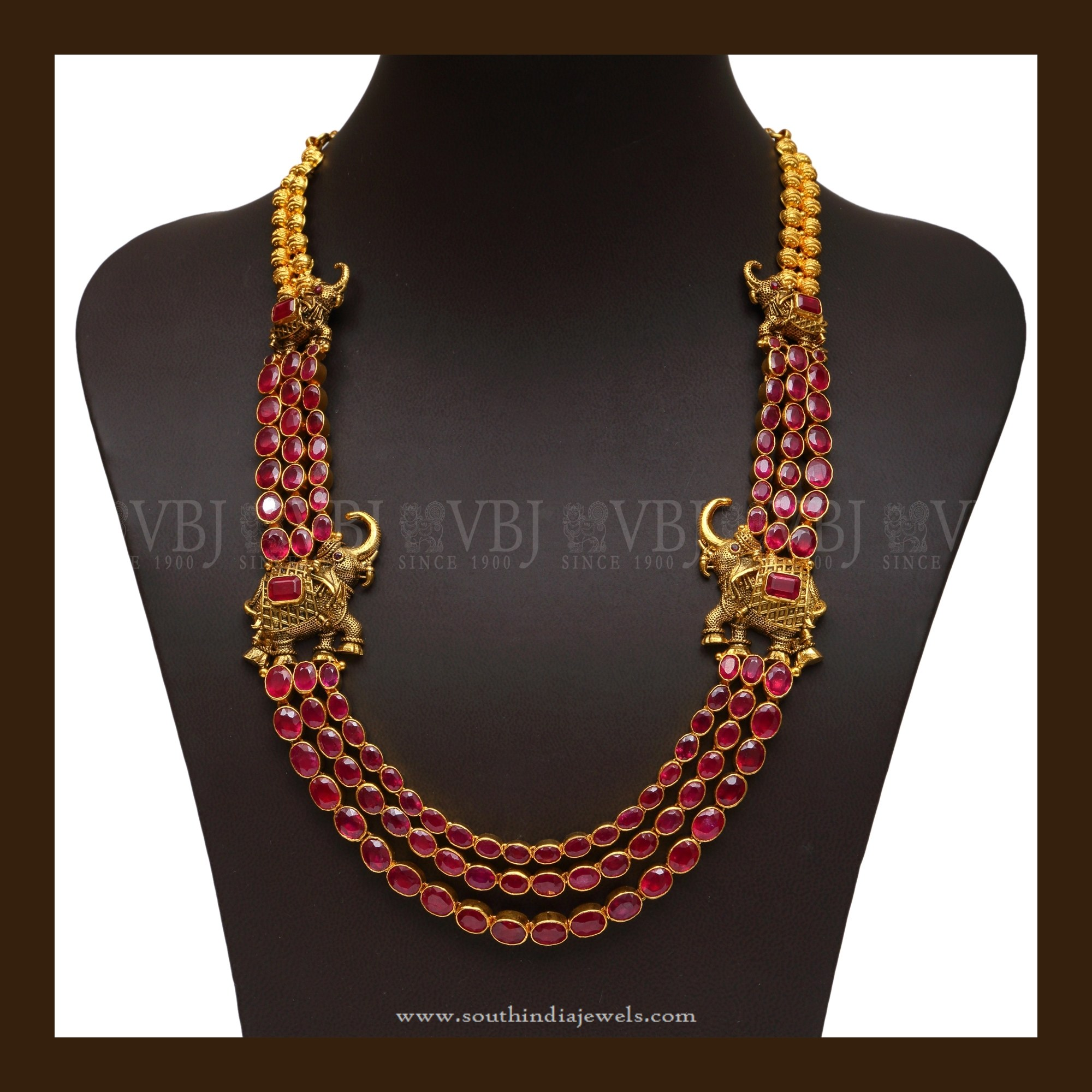 necklace pearls set chain antique with online jumki kundan ruby stones and pendant cz