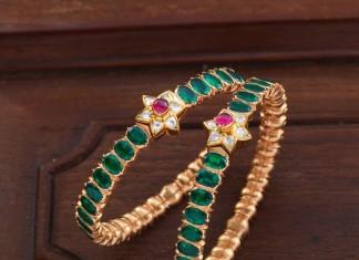Gold Bangle Set For Sarees