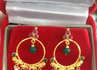 Gold Ring Earrings Design