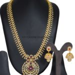 1 Gram Gold Stone Haram Set with Jhumka