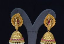 Artificial Peacock Jhumka Design