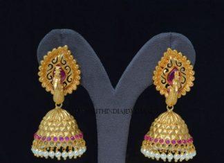Artificial Peacock Jhumka Design