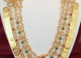 Beautiful Kasu Mala Necklace Design