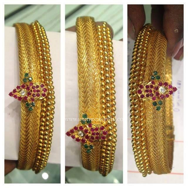 Big Antique Gold Bangles