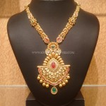 Gold Designer Kundan Long Necklace