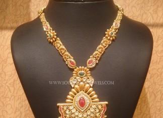 Gold Kundan Long Necklace