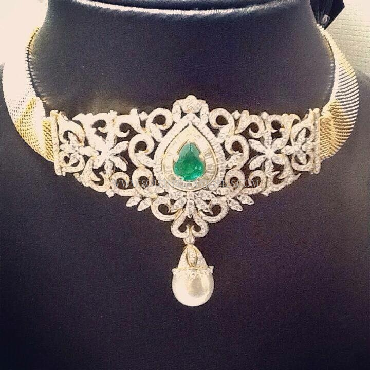 Diamond Choker From Veena Jewels