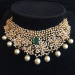 Beautiful Indian Diamond Choker Necklace Design