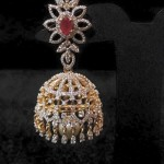 Diamond Ruby Jhumka Design