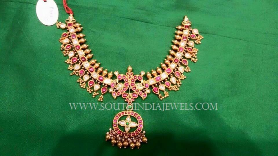 Gold Antique Attigai Necklace