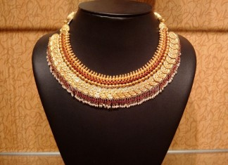 Gold Antique Coin Choker Necklace