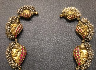 Gold Antique Ganesh Choker Necklace