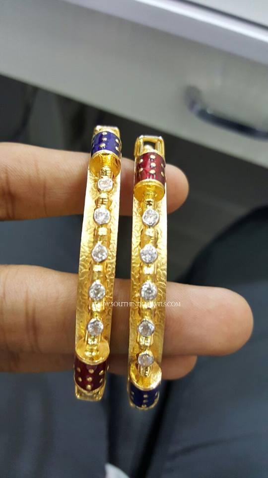 Latest Gold Enamel Bangle