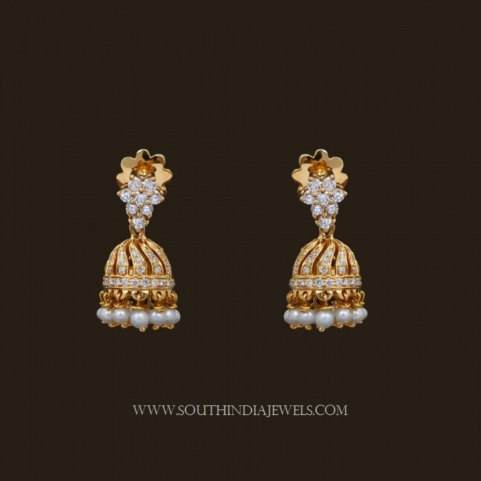 gold jhumka designs with weight and price south india jewels