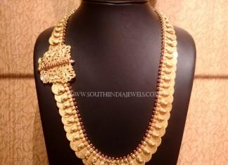 Gold Kasumalai with Side Locket
