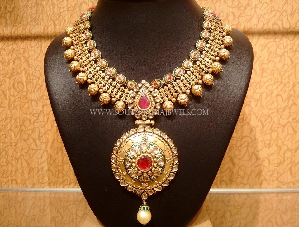 Gold Designer Necklace Model