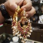 Gold Plated Silver Chandbali Earrings