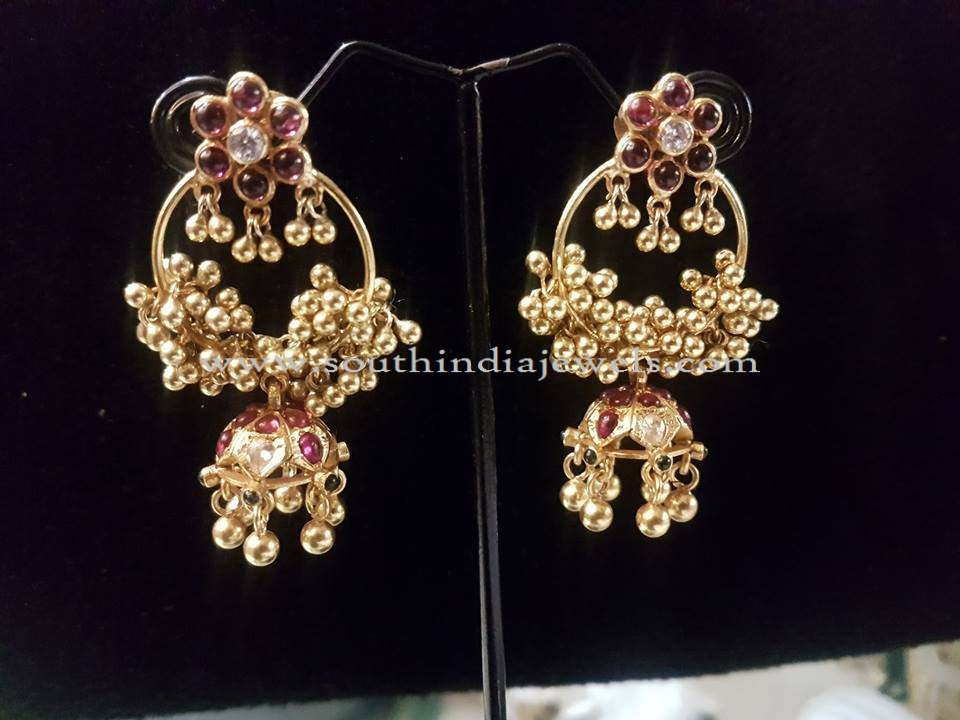 Gold Plated Silver Jhumka Earrings