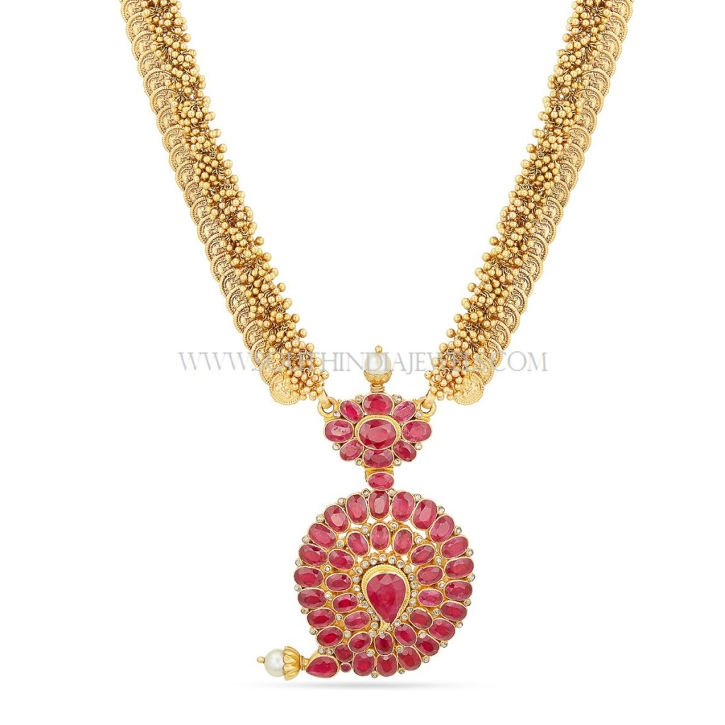 Gold Haram with Ruby Pendant