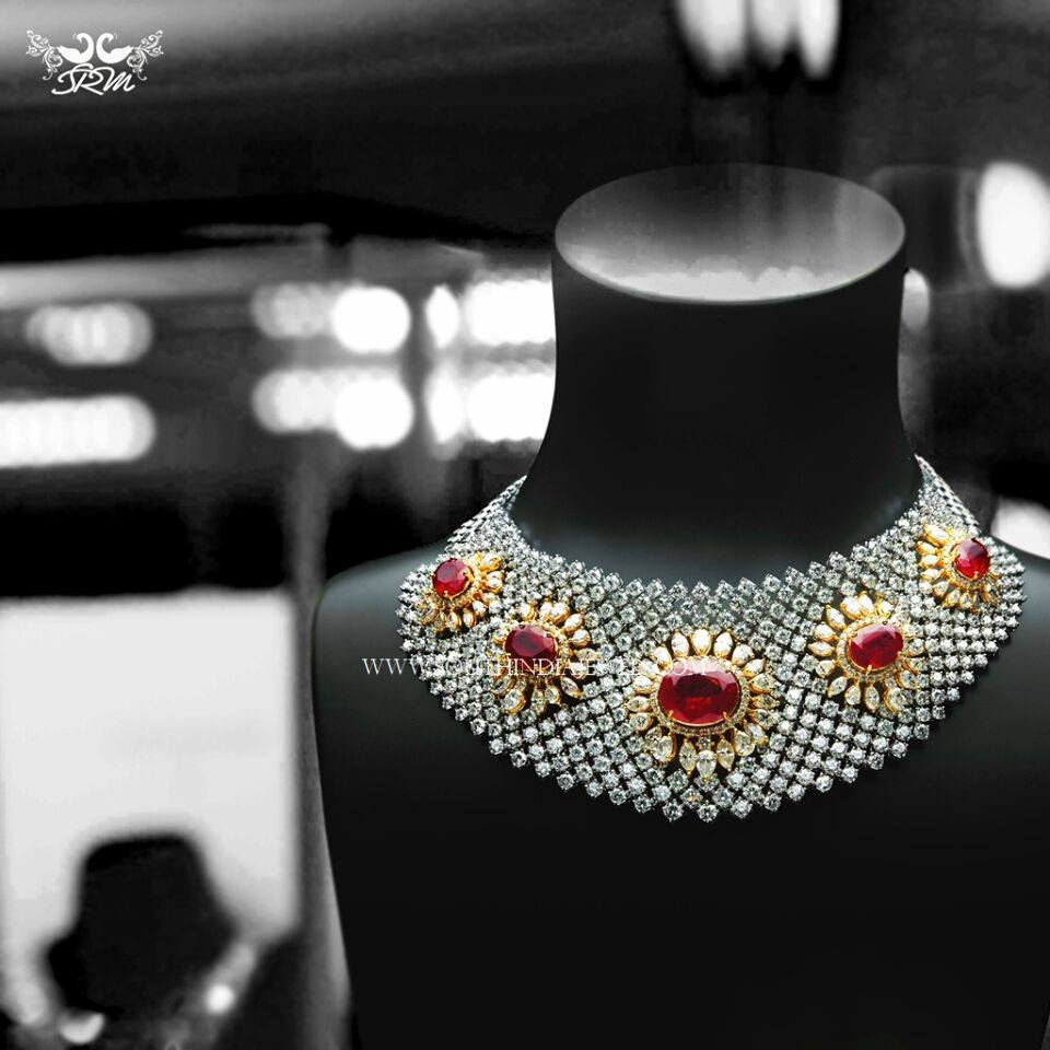 Grand Diamond Choker with Rubies