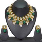 Kundan Emerald Choker Necklace