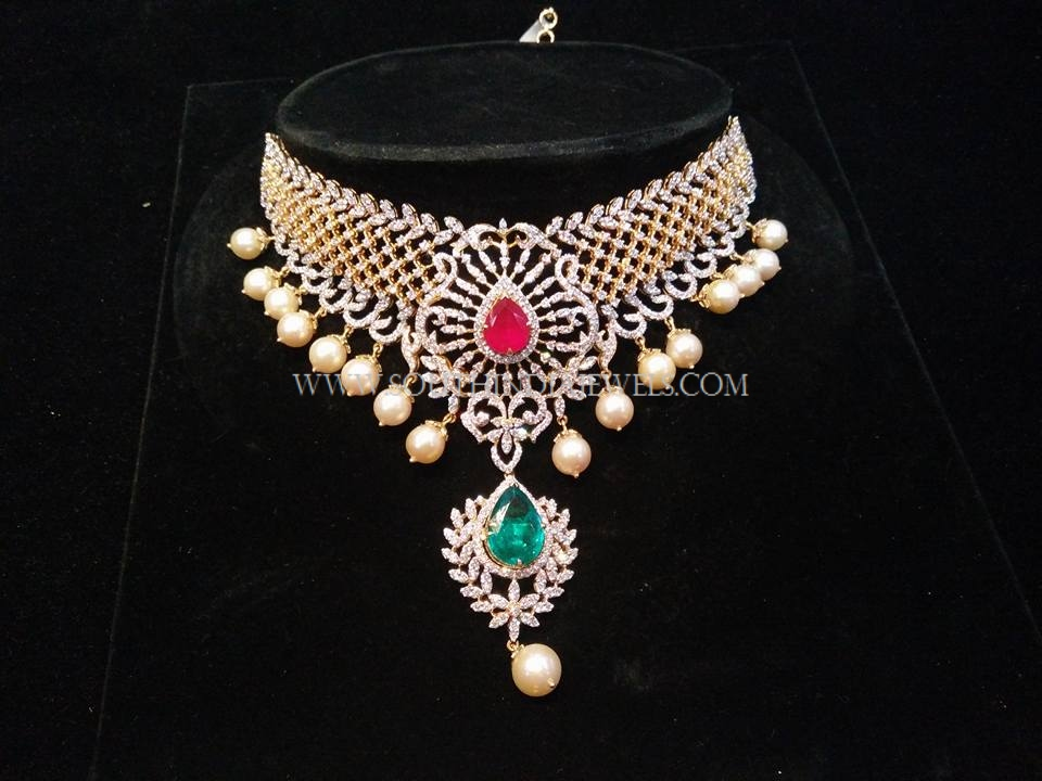 Fancy Diamond Choker Necklace