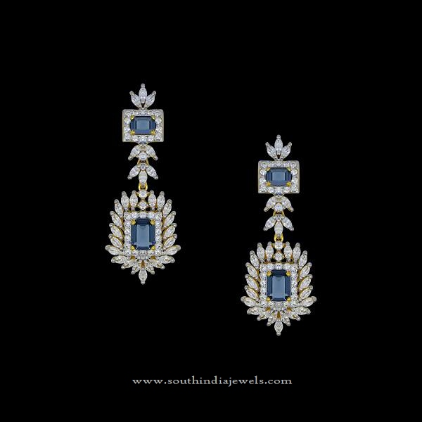 8e422c19a Latest Diamond Earrings Design ~ South India Jewels