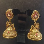 Latest Gold Antique Jhumka Design 2017