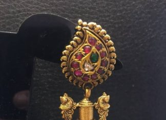 Gold Long Antique Jhumka