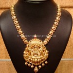 Medium Length Gold Lakshmi Haram