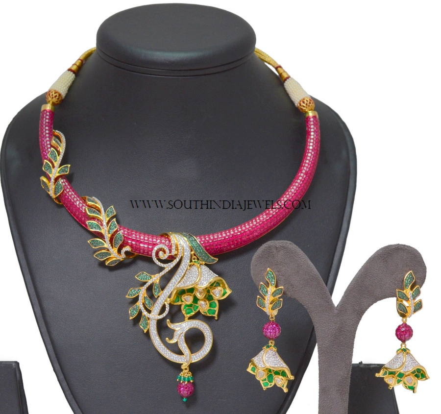 One Gram Gold Designer Necklace Set