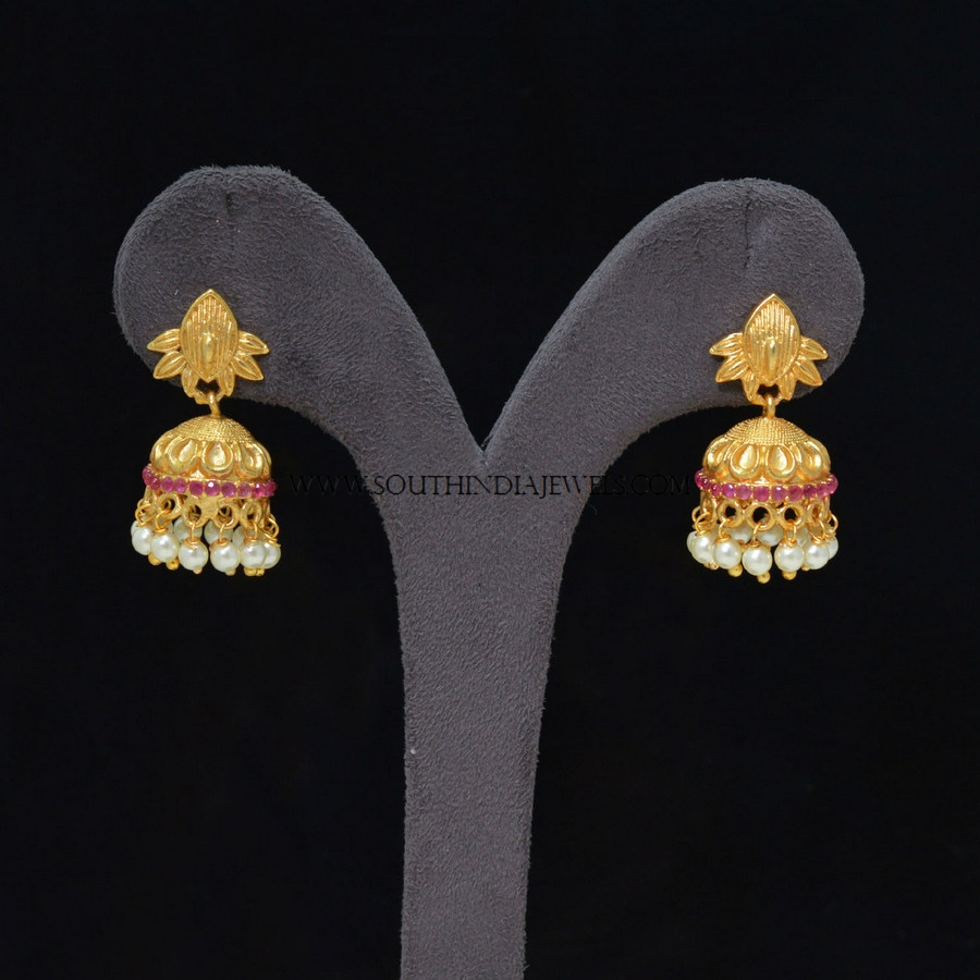 Short Matt Finish Jhumka
