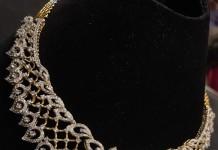 Simple Designer Diamond Necklace Model
