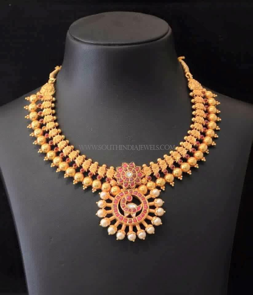 South Indian Antique Gold Jewellery Necklace