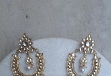 Stylish Kundan Chandbali Design