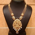 Traditional Gold Lakshmi Haram Design